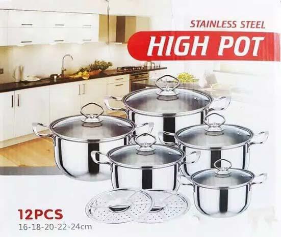 Panci Set Stainless High Pot