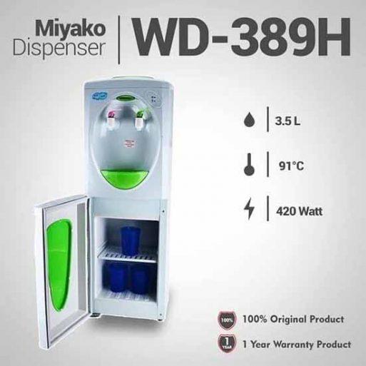 Dispenser Miyako Berdiri Hot & Cool WD-389HC