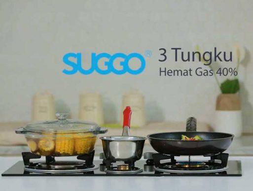 Kompor Gas Tanam 3 Tungku Suggo SG 301