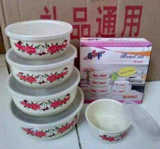 Mixing bowl set enamel