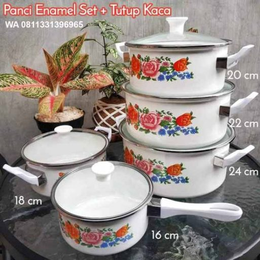 Panci Set Enamel Indisah FAei01