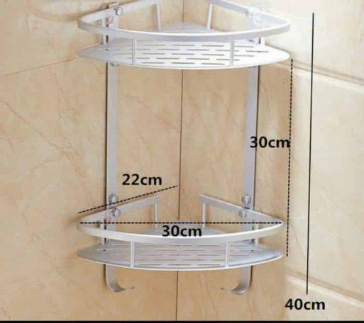 Rak Sudut kamar mandi aluminium