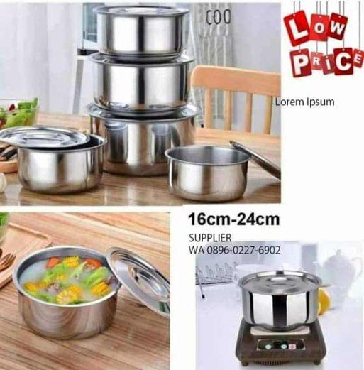 Stock Pot Stainless Ware Set 5 Pcs