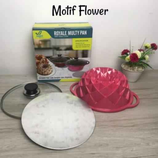 Cetakan Kue Bolu motif flowers