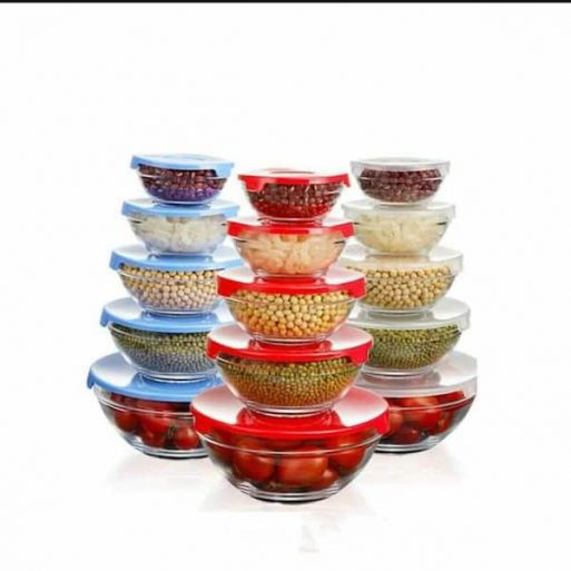 Glass Bowl Set 5 pcs hc