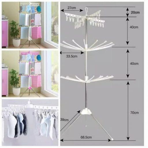 Jemuran Standing Hanger Lipat