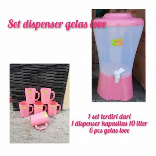 Dispenser Kecil Plus Gelas