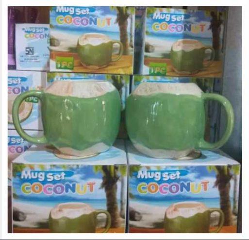 Distributor Mug Gelas Batok kelapa bahan keramik