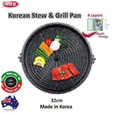 Grill Pan Griller Panggangan Bbq 4 layer
