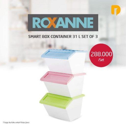 Kotak Penyimpanan Roxanne Smart 31 L