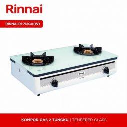 Kompor Gas 2 Tungku - rinnai RI-712GA(W)